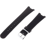 AL8004 Alessi LUNA Black Leather Watch Band by Mendini
